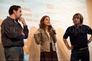"""Con María Pedroviejo y Félix Llorente, del cortometraje """"Anónimos"""""""