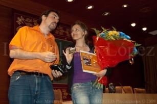 Con Isabel de Ocampo
