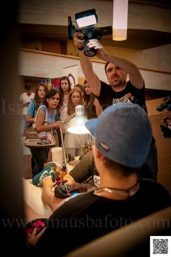 Grabando las actividades del FESCIGU 2013
